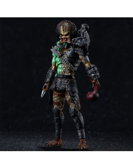 Hiya Toys Predator: Battle Damage Jungle Hunter 1:18 Scale 4 Inch Acton Figure